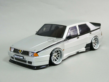 1/10 ALFA ROMEO 75 Turbo EVO Body Shell 190mm SILVER *FINISHED*