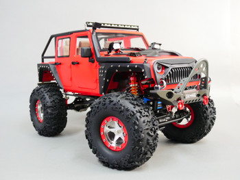 rc custom jeep with 5 star aluminum wheels