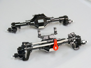 Traxxas TRX-4 PORTAL Axle Metal Front + Rear Diff Locked Portals BLACK