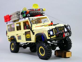 rc land rover defender 110 camel trophy