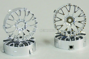 Tetsujin DAISY RC Car 1/10 Wheels CHROME Adjustable Offset 3-6-9mm -4 RIMS