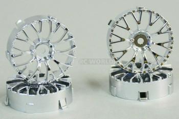 Tetsujin DAISY RC Car 1/10 Wheels CHROME Adjustable Offset 3-6-9mm -4 RIMS