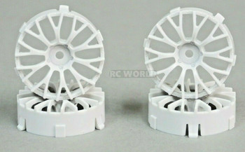 Tetsujin DAISY RC Car 1/10 Wheels WHITE Adjustable Offset 3-6-9mm -4 RIMS