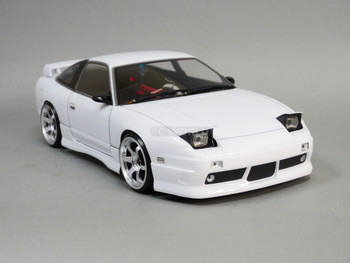 Custom 1/10 RC Drift NISSAN 180SX Pop Up Lights L.E.D Lights - RTR