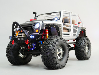 1/10 RC JEEP WRANGLER RUBICON 2-SPEED Rock Crawler 8.4V *RTR* Nerf