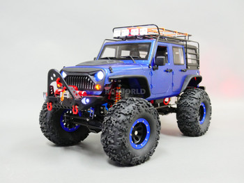 1/10 RC JEEP WRANGLER RUBICON Roof Rack 2-SPEED Rock Crawler 8.4V *RTR*