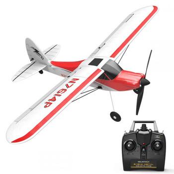 RC Airplane Super Cub 500 4 Channel Electric Trainer Plane + Gyro RTF