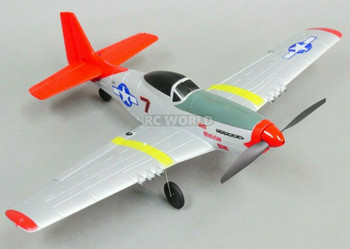 RC Airplane P-51 MUSTANG 4 Channel Electric Trainer Plane + Gyro RTF
