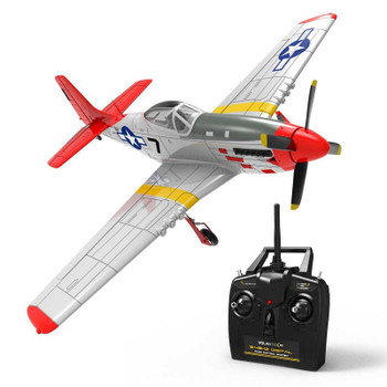 """RC Airplane P-51 MUSTANG 4 Channel Electric Military Plane + Gyro RTF 29"""""""