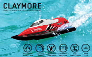 RC F1 RACE BOAT 2.4ghz Water Proof RC Formula BOAT 20 MPH ! -RTR- RED