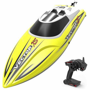 Vector XS RC RACE BOAT 2.4ghz Water Proof RC BOAT 20 MPH -RTR Yellow