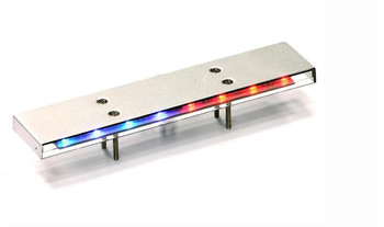 1/10 POLICE LIGHT BAR Low Profile Flashing RED/BLUE/YELLOW