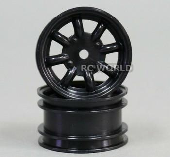 ABC Hobby 1/12 RC Wheel Rims BLACK SPOKE #24128 (2PCS)