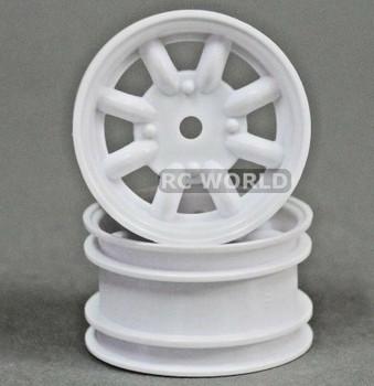 ABC Hobby 1/12 RC Wheel Rims WHITE SPOKE #24128 (2PCS)