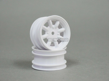 ABC Hobby 1/12 RC Wheel Rims WHITE SPOKE #24128 (2PCS)