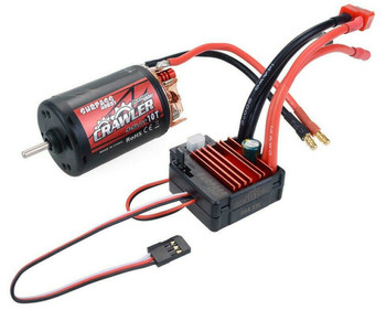 1/10 RC  550 Motor + ESC Package Waterproof 80A For Trucks 10T 5 Pole