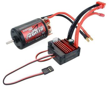 1/10 RC  550 Motor + ESC Package Waterproof 80A For Trucks 12T 5 Pole