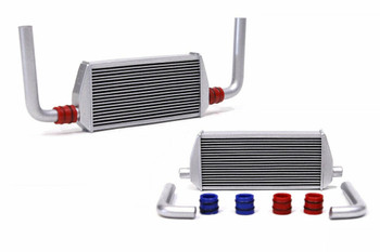 1/10 RC Front RADIATOR Inter Cooler w/ Pipes Medium Silver