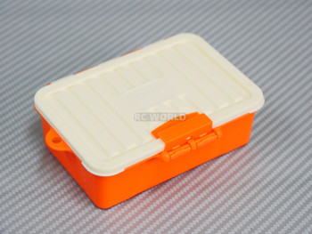 1/10 Storage Box Container Water Proof Low Profile ORANGE