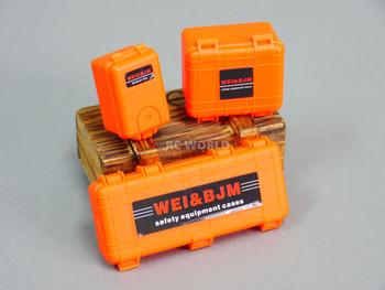 1/10 CARGO Luggage Safety Cases Storage Box (3PCS) ORANGE