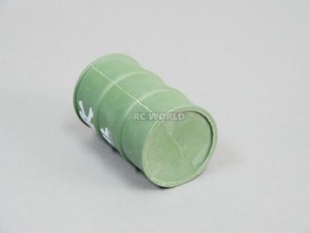 1/10 Plastic Drum Container Drape Green OIL