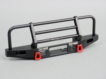 Traxxas TRX-4 DEFENDER V2 METAL Front Bumper +LED Black