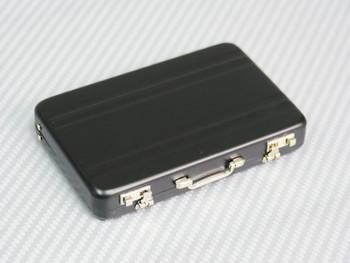 1/6 Scale Metal Briefcase Suitcase w/ Metal Parts + Interior BLACK