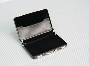 black scale briefcase
