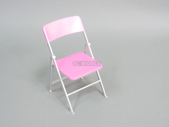 1/6 Scale FOLDING Chair Pink