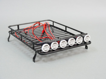RC Scale Metal Roof Rack W/ 6 Hella LED Spot Lights