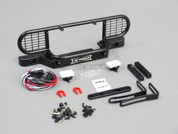 Traxxas TRX-4 DEFENDER Safari METAL Front Bumper +LED Black