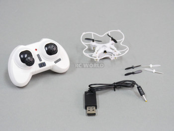 Micro RACING DRONE High Performance Quadcopter 20MPH W/ Flipping RTF White