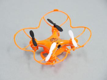 rc micro racing drone orange