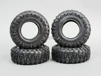 2.2 TIRES 120mm For RC Trucks Rock Crawler W/ Foam 120x43mm -4PCS