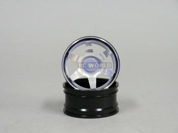 1/10 metal drift rims silver