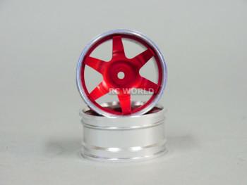 1/10 metal drift rims red