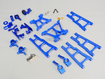 For Traxxas METAL Upgrade Arm Steering Knuckle 4X4 Slash Stampede Rustler Blue