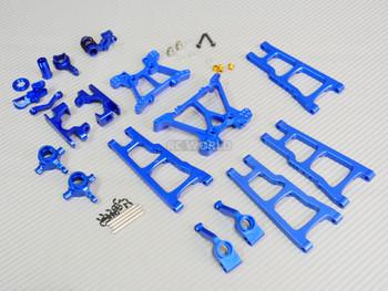For Traxxas METAL Upgrade Arm Steering Knuckle 4X4 Slash Stampede Rustler Blue