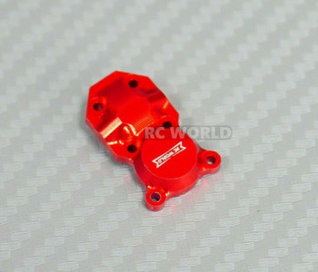 Axial SCX24 Front METAL AXLE COVER Diff Cover Aluminum RED