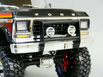 For Traxxas BRONCO FRONT METAL Bumper W/ Hella LED Light Pods BLACK