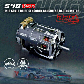 RC Brushless 540 DRIFT Motor SENSORED Racing Motor V5R 13.5T 2800 KV 1-3S Lipo