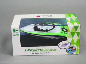 RC Micro Boat MINI RC Deck Boat -Green - 40MHz
