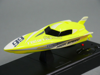 RC Micro Boat MINI RC  Power Boat -Yellow - 2.4ghz