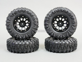 2.2 RIMS + TIRES 120mm For RC Trucks W/ Foam 120x43mm -4PCS