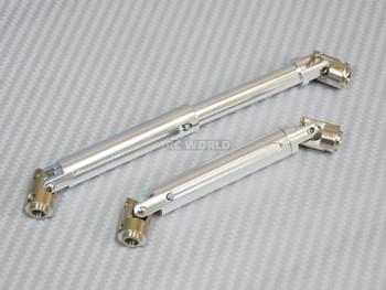 Universal METAL DRIVESHAFTS Lightweight Aluminum 100-150mm Driveshafts - SILVER -