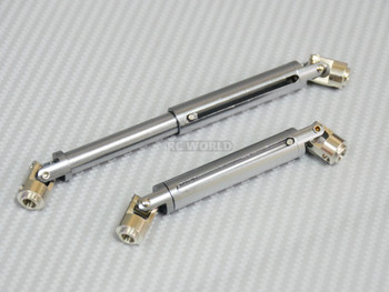 Universal METAL DRIVESHAFTS Lightweight Aluminum 100-150mm Driveshafts - GUN METAL -