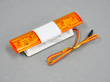 1/10 RC POLICE LIGHTS Top Light Bar FLASHING LEDS - Yellow -