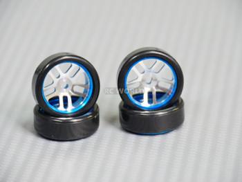1/28 Mini Z Aluminum Drift Rim Set BLUE