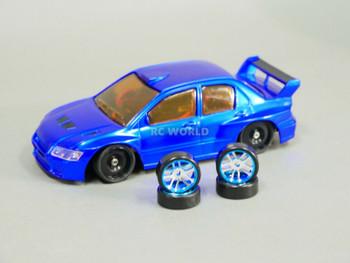 1/28 Mini Z MITSUBISHI EVO AWD Drift -RTR- Blue