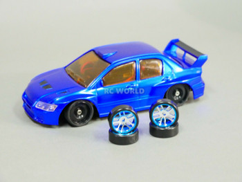 1/28 Mini Z MITSUBISHI EVO AWD Drift -RTR- Blue